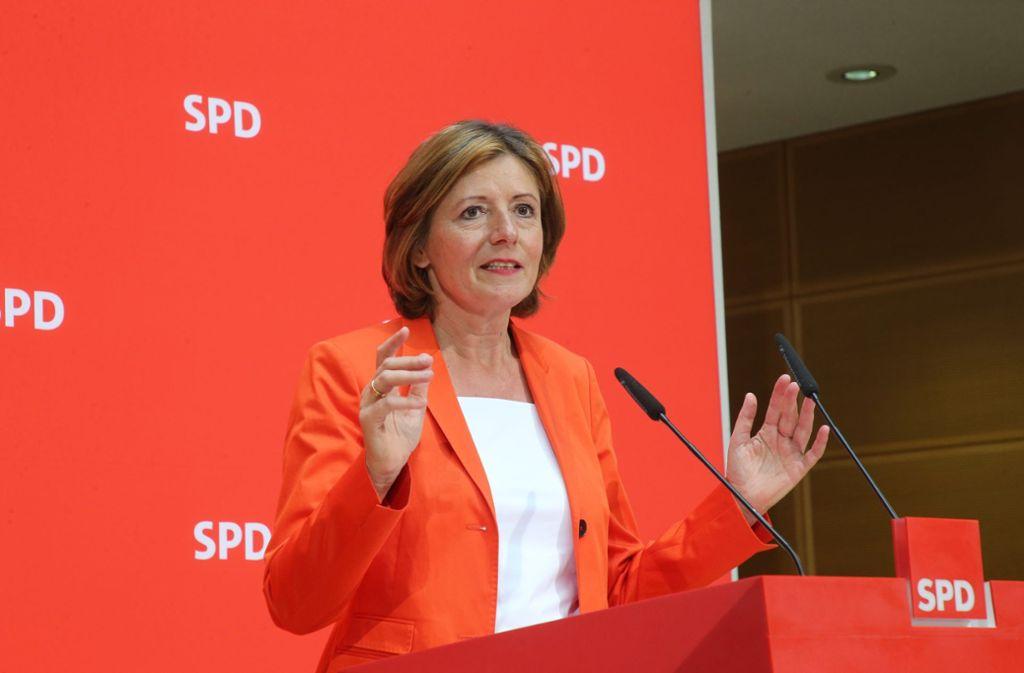 Die kommissarische SPD-Vorsitzende Malu Dreyer hat das Konzept für ein neues Kindergeld vorgestellt. Foto: dpa/Wolfgang Kumm