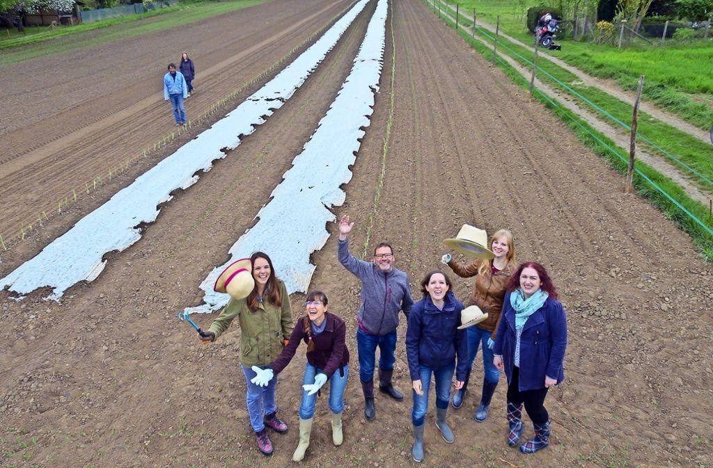 Noch liegt die Ackerfläche am Rande von Möhringen scheinbar brach. Doch im Boden reift schon die Saat heran, die der Bauer Klaus Brodbeck eingepflanzt hat. Foto: Thomas Krämer