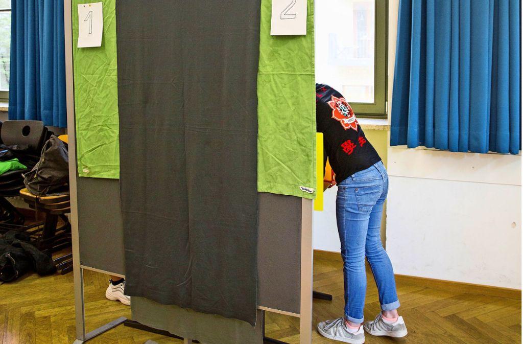 Übung im Wählen im Stuttgarter Karls-Gymnasium Foto: