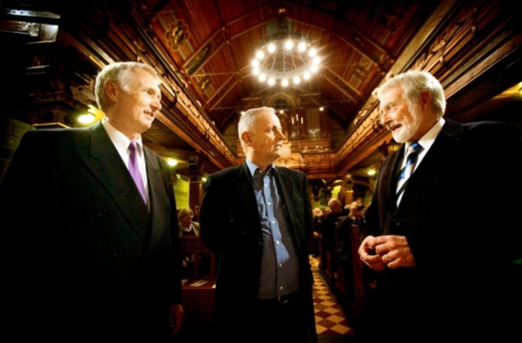 Wolfgang Wulz, Gerhard Raff und  Werner Mezger  in Uhlbach Foto: Gottfried Stoppel