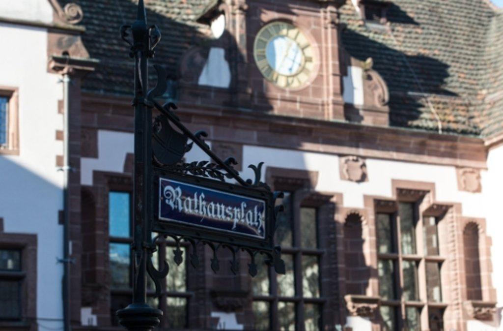 Die Innenstadt in Freiburg. Foto: dpa
