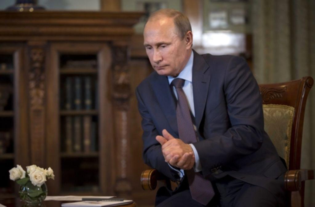 Russlands Präsident Putin sieht sich internationaler Kritik ausgesetzt. Foto: dpa