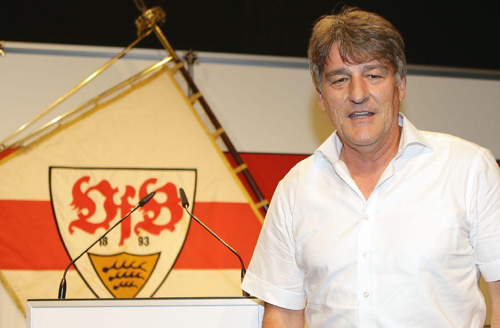 Gerd Mäuser ist Geschichte: Am Montagabend wurde Bernd Wahler zum neuen VfB-Präsidenten gewählt. Foto: Pressefoto Baumann