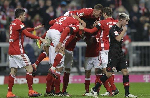 FC Bayern siegt mit 2:1 gegen Bayer Leverkusen