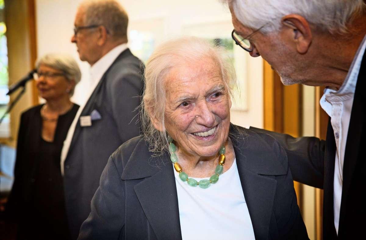 Hildegard Ruoff an ihrem 100. Geburtstag am 3. Oktober 2019 Foto: /Horst Rudel/Archiv