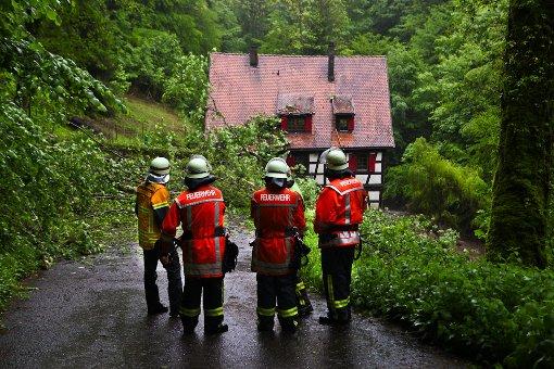 Dauerregen hält Feuerwehr in Atem