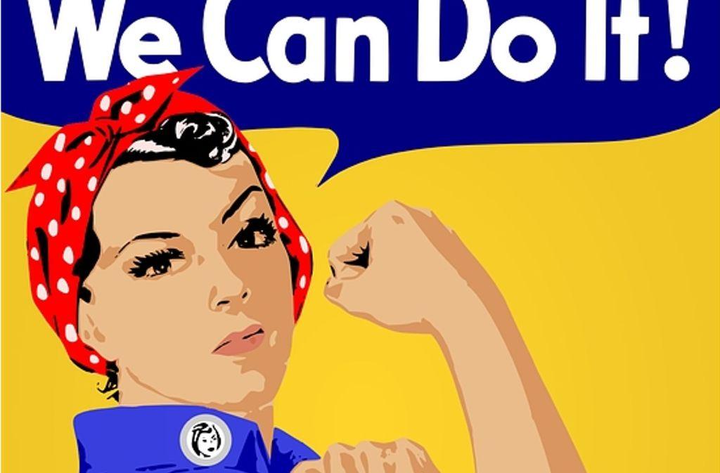 """""""We can do it!"""" – Feminist kann jeder sein. Egal, ob männlich oder weiblich. Foto: Pixabay"""