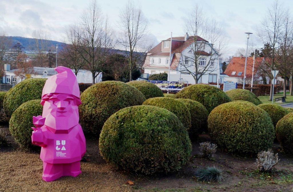 Kein Schnäppchen: für 2820 Euro hat die Buga-Karl-Figur den Besitzer gewechselt. Foto: Buga/StZN