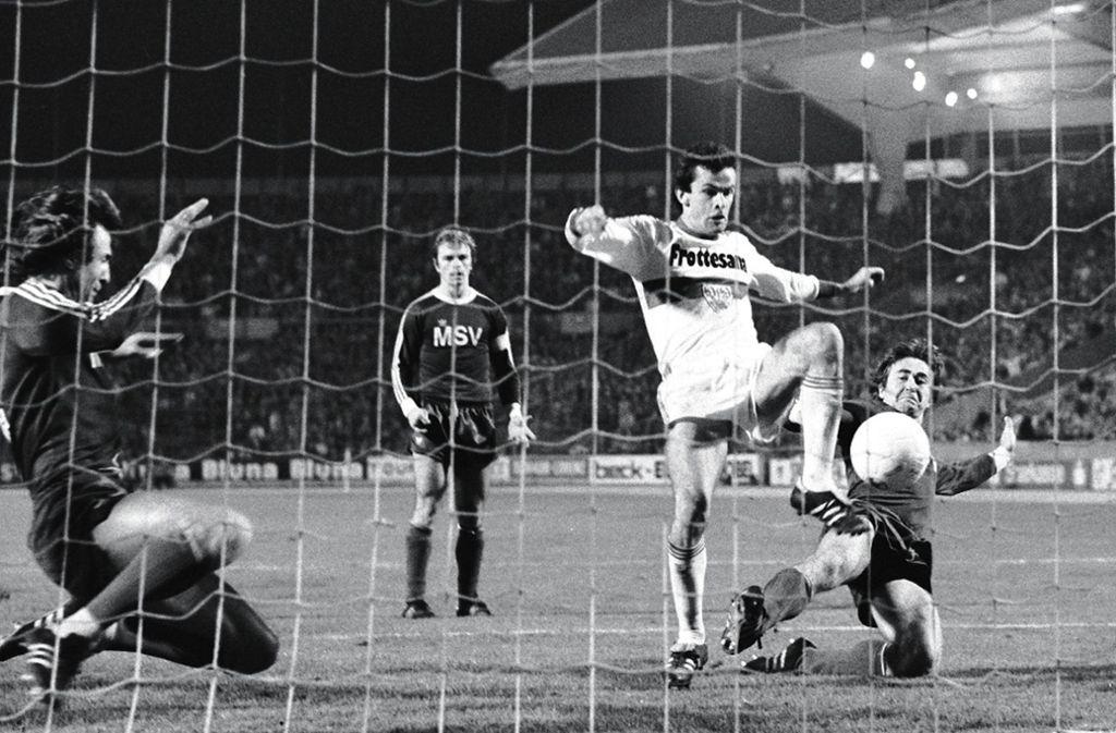Ottmar Hitzfeld,  VfB-Torschützenkönig in der Aufstiegssaison 1976/77. Foto: Baumann