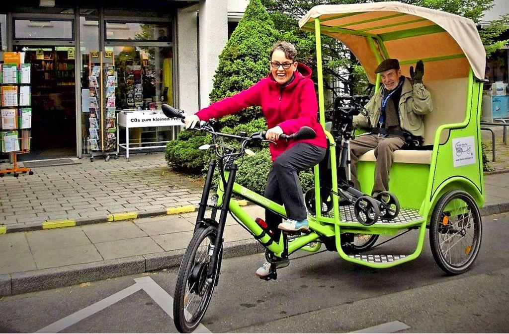 Die Bürger-Rikscha in Vaihingen ist ein Ergebnis des ersten Reallabors. Foto: Uni Stuttgart