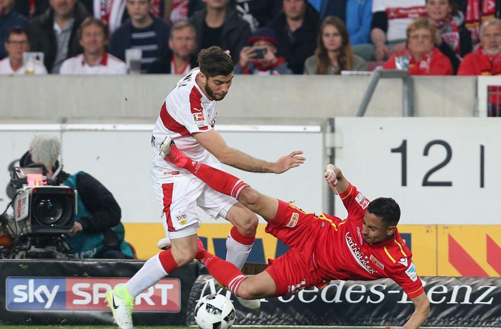 Der VfB Stuttgart und der 1. FC Union Berlin trafen in der Saison 2016/2017 in der zweiten Liga aufeinander. Foto: Pressefoto Baumann