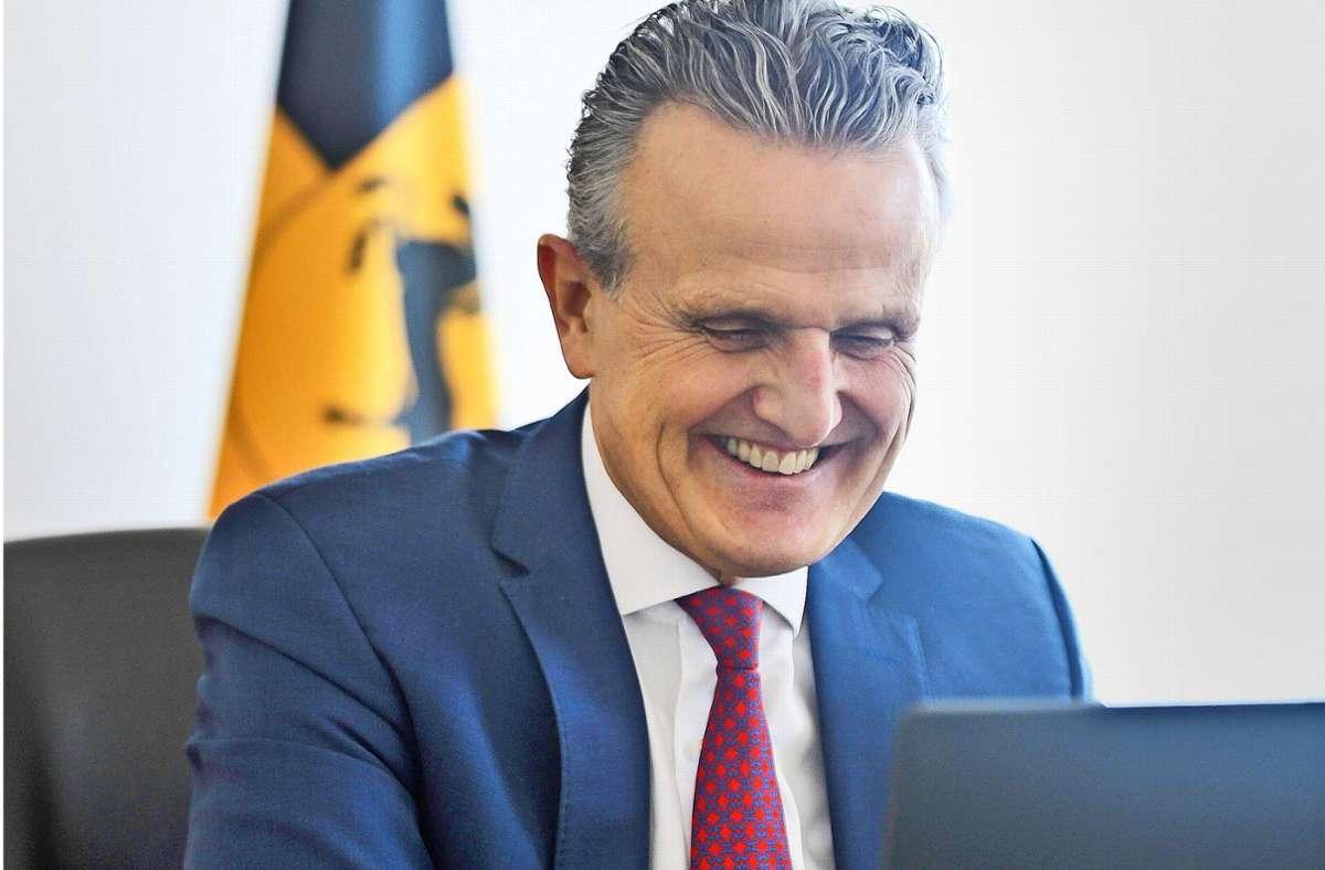 Frank Nopper (CDU) hat die Mehrzahl der Wähler bei der OB-Wahl  im November 2020 von sich überzeugen können. Seine Parteizugehörigkeit spielte eine untergeordnete Rolle. Foto: Lg/Max Kovalenko