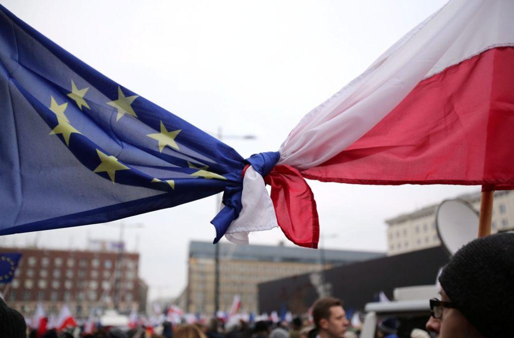 Die EU-Kommission treibt das Verfahren gegen Polen voran. Foto: PAP
