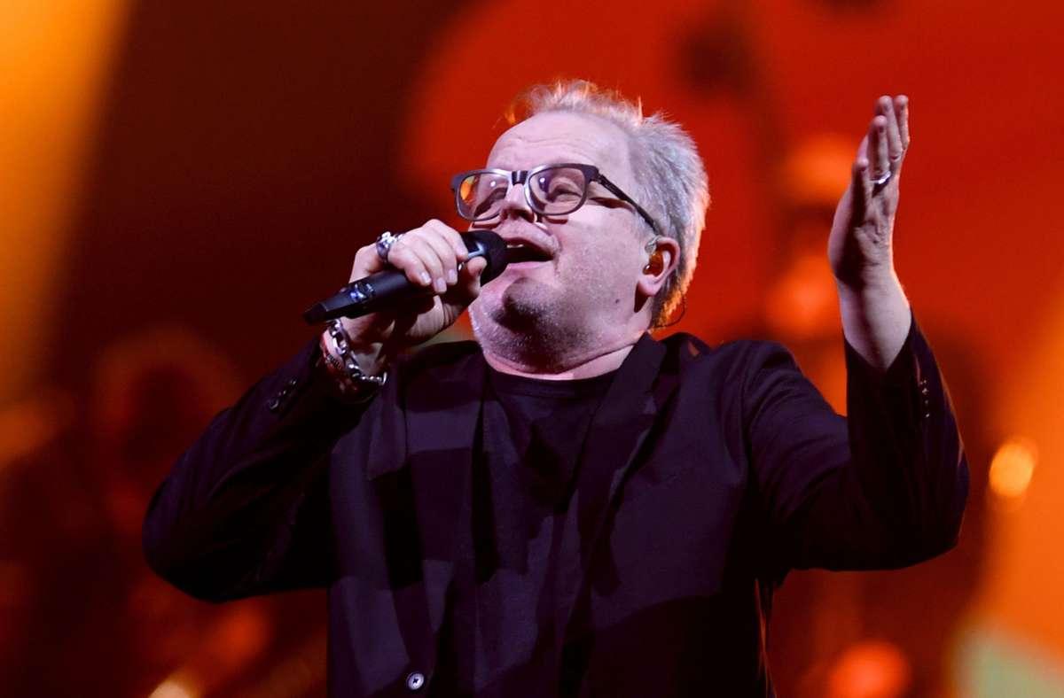Herbert Grönemeyer bei einem Konzert in Kiel 2019 Foto: dpa/Carsten Rehder