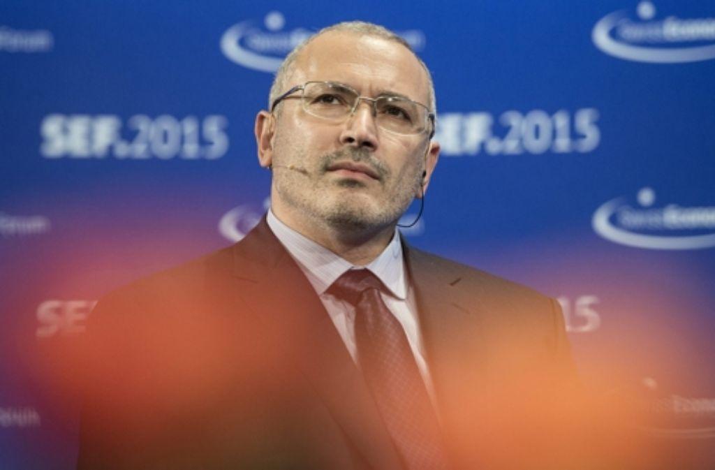 Michail Chodorkowski steht auf der Fahndungsliste russischer Ermittler. Foto: dpa