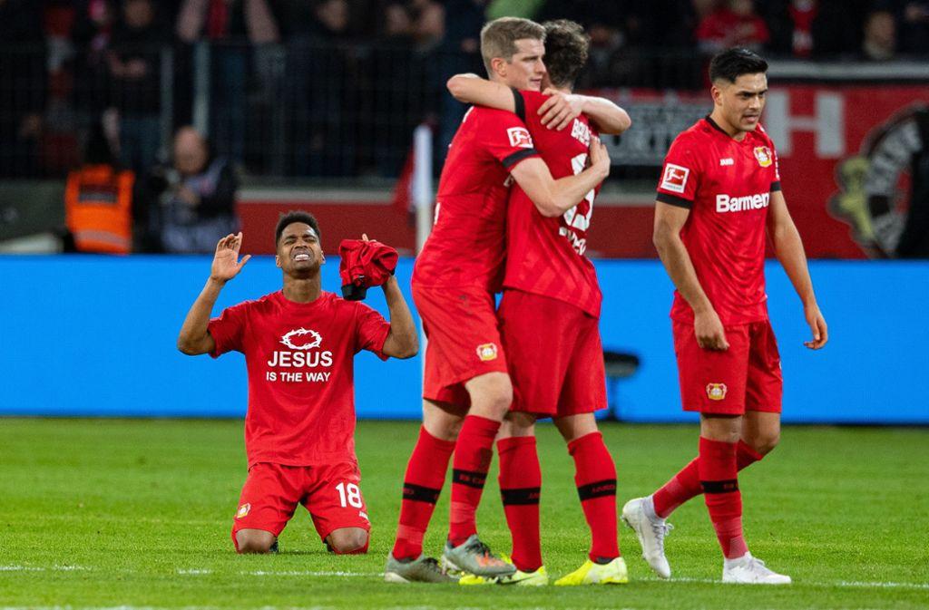 Leverkusen bleibt auf Erfolgskurs. Foto: dpa/Guido Kirchner