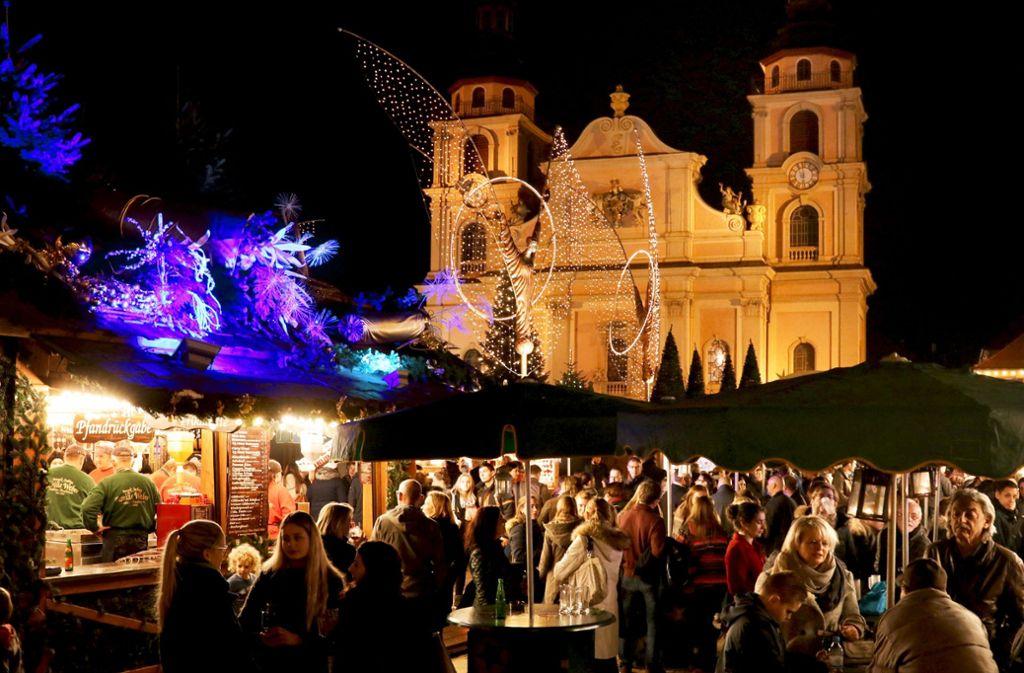 Der barocke Weihnachtsmarkt in Ludwigsburg ist beliebt – mit rund einer Million Besucher rechnet die Stadt. Foto: factum/Archiv