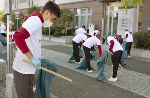 Mit dem VfB für eine saubere Stadt
