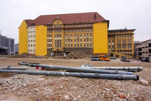 Die Bahnhofs-Baustelle im April