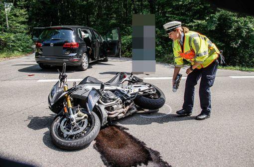 Verkehrsunfall mit verletztem Biker