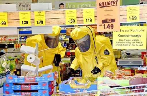 Wegen Spinnenalarm  Supermarkt geräumt