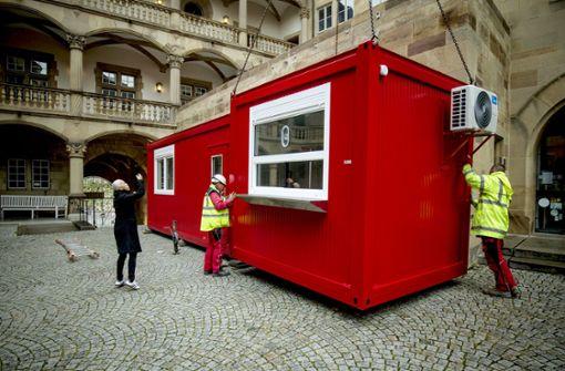 Container  ersetzen das Foyer