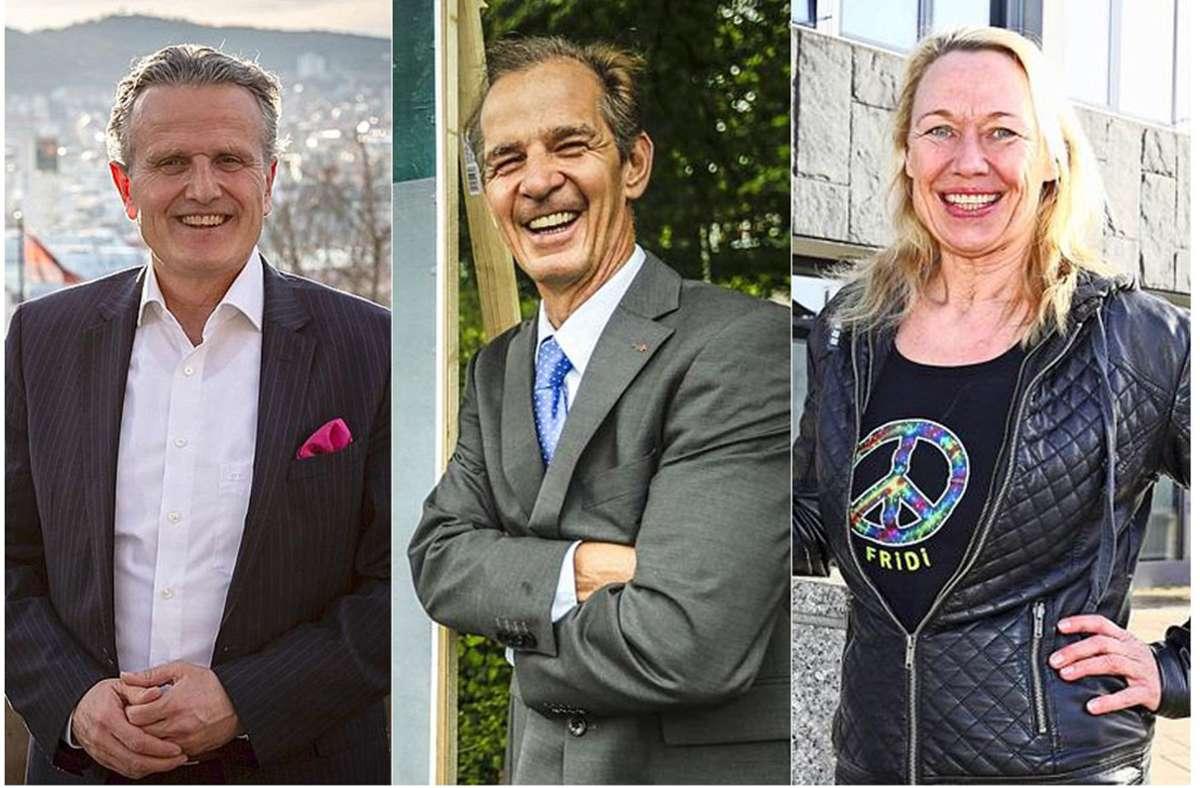 Frank Nopper, Werner Ressdorf und Friedhild Miller antworten auf persönliche Fragen. Foto: Lichtgut//Robin Rudel