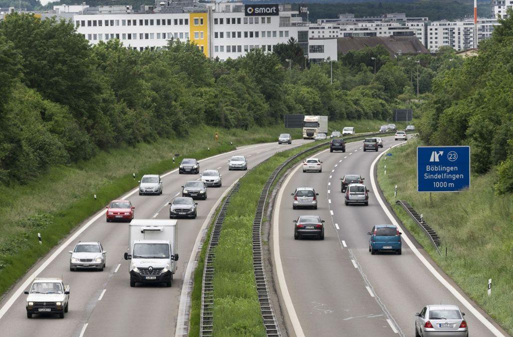 Immer viel Verkehr: die A 81 zwischen Sindelfingen und Böblingen. Foto: factum-Weise