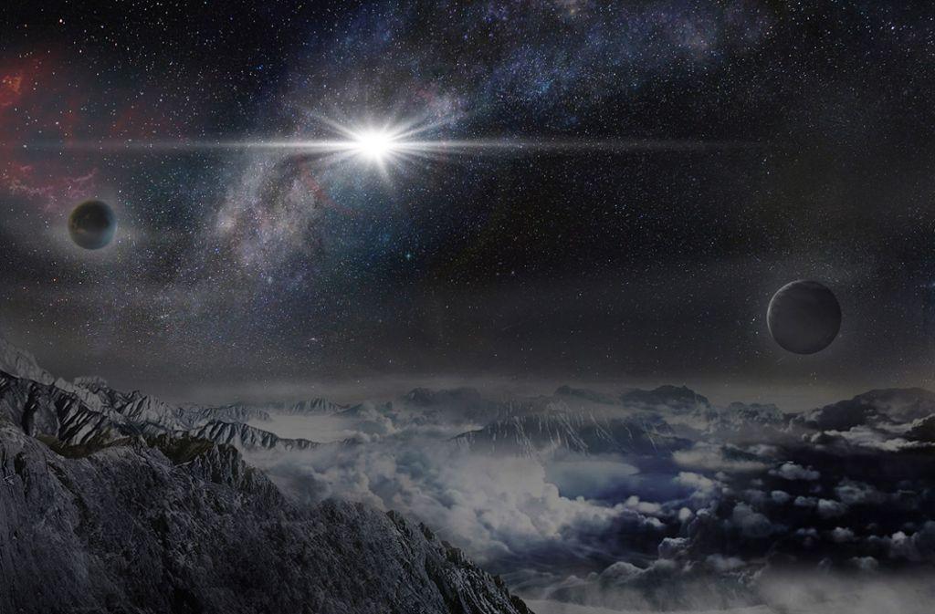 Exoplaneten sind Planeten außerhalb unseres Sonnensystems. Sie kreisen nicht um unsere Sonne, sondern um einen anderen Stern Foto: AP