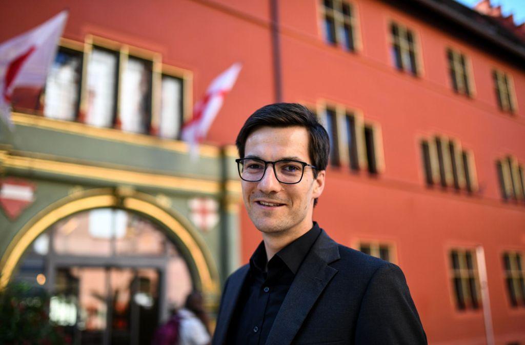 Martin Horn ist mit 34 der jüngste Oberbürgermeister einer deutschen Großstadt. Foto: dpa