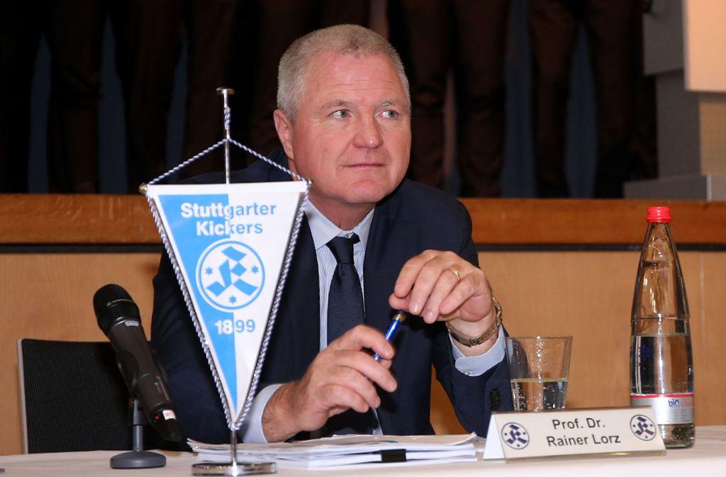 Rainer Lorz: Seit 2010 Präsident der Stuttgarter Kickers. Foto: Baumann