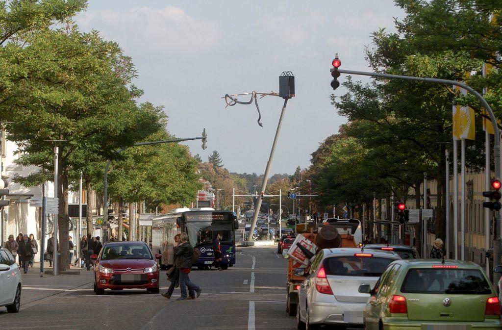 In der Wilhelmstraße in Ludwigsburg hat es am Mittwoch gekracht. Foto: factum/Bach/factum / Jürgen Bach
