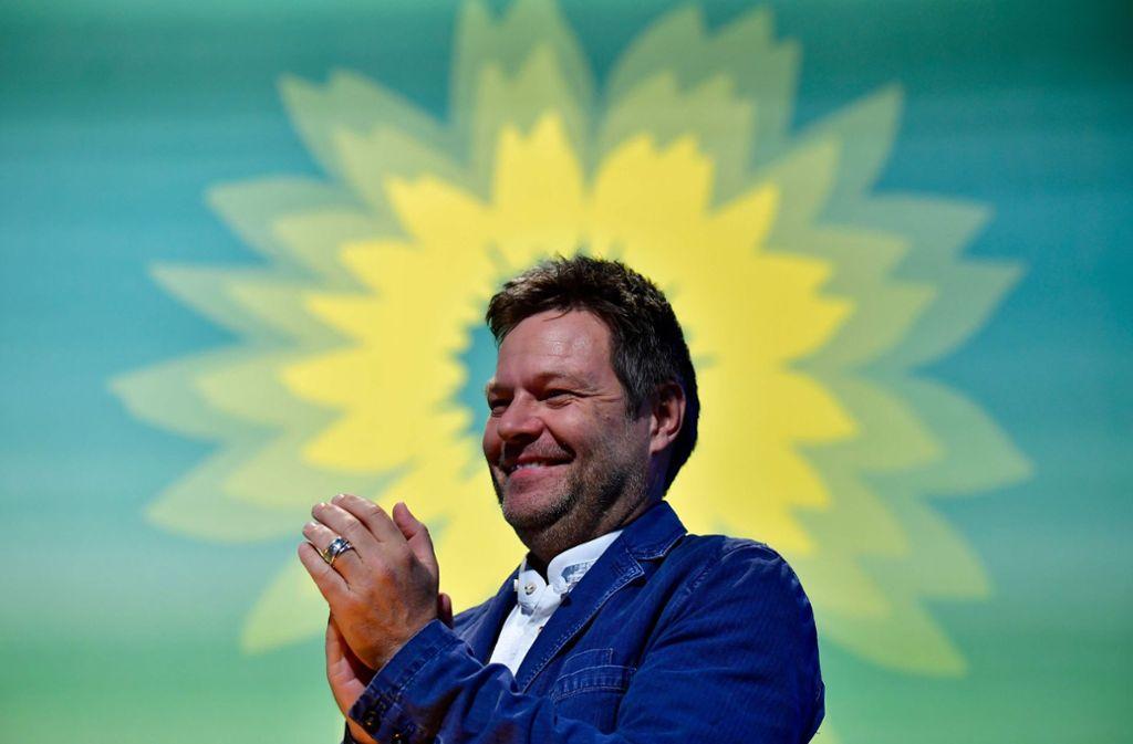 Der Parteivorsitzende der Grünen: Robert Habeck Foto: AFP
