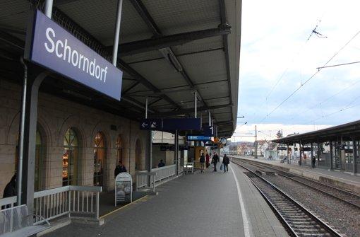Der Schorndorfer Bahnhof war Schauplatz des tödlichen Vorfalls. Foto: Pascal Thiel