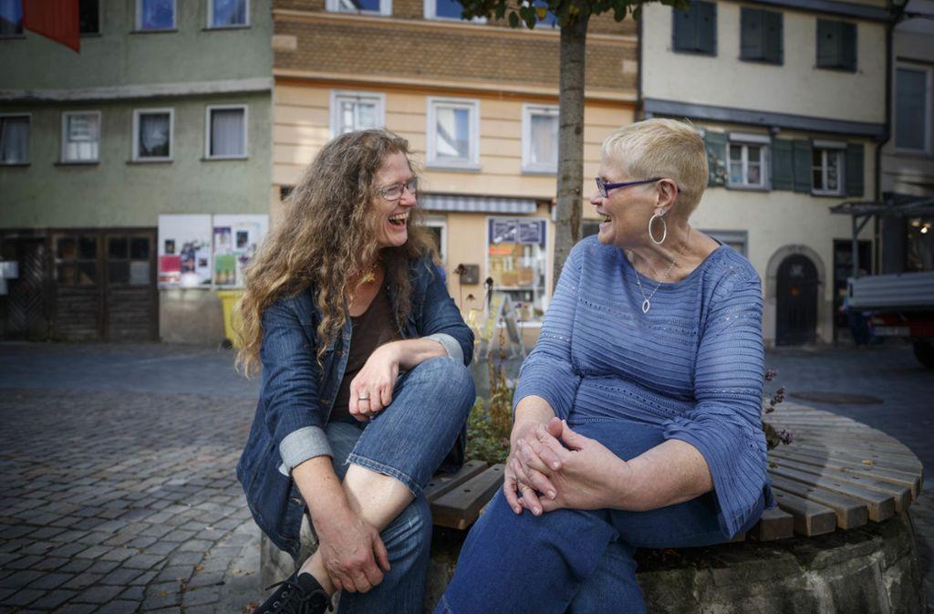Ingrid Zellner (links) und Simone Dorra haben ihren Stil gefunden. Foto: Gottfried Stoppel
