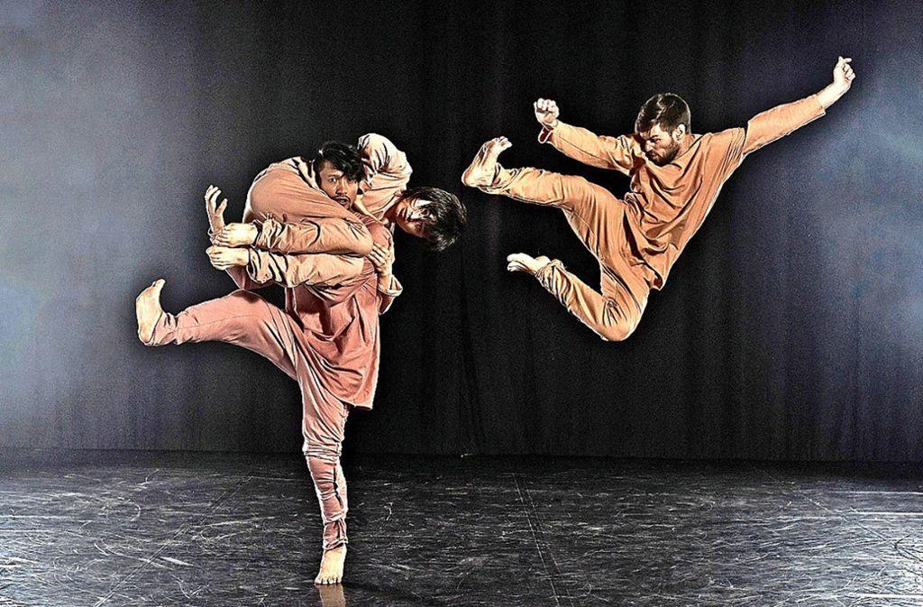 """Tänzer in Kung-Fu-Kämpfen: """"Der Eindringling"""" Foto: Christopher Schmidt"""