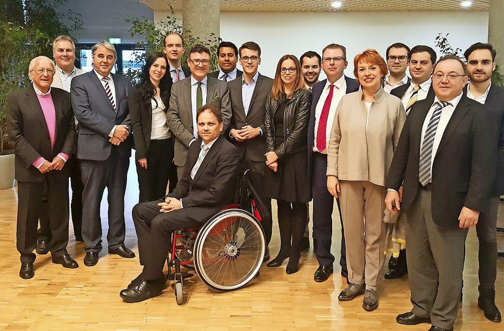 Der 2016 gewählte Vorstand, ganz links Ex-Schatzmeister Eberhard Graf Foto: CDU