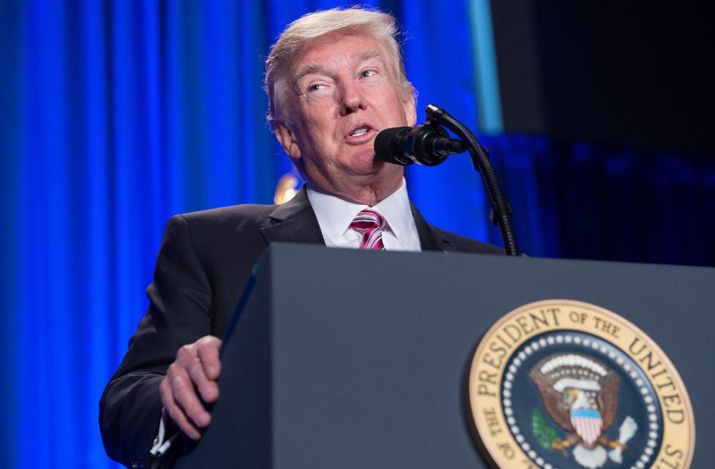 Donald Trump schießt scharf gegen Mexiko und Präsident Peña Nieto. Foto: AFP