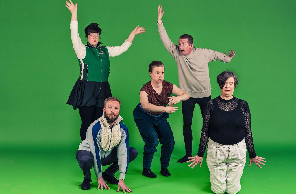 """Die Gruppe Oblivia aus Helsinki begeistert im Theater Rampe mit ihrer meditativen, urkomischen Performance """"Nature Theatre of Oblivia"""" Foto: Saara Autere"""