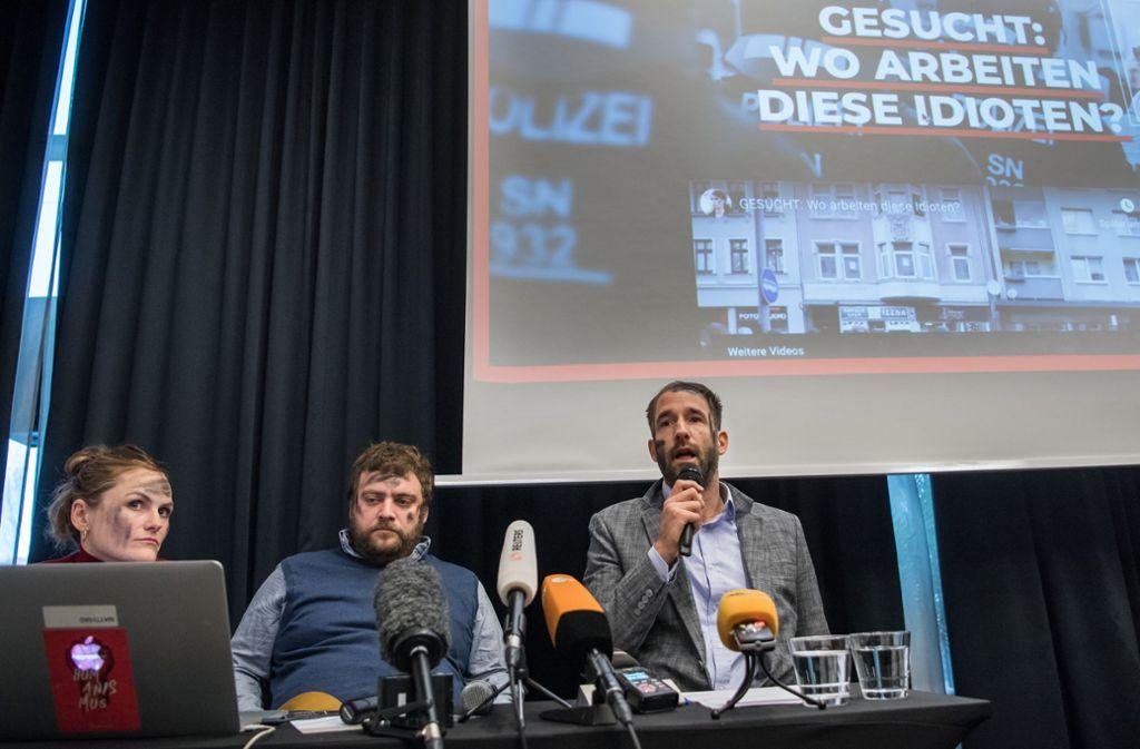 Der umstrittene Onlinepranger zur Identifizierung von Teilnehmern rechter Aufmärsche in Chemnitz ist abgeschaltet. Foto: dpa