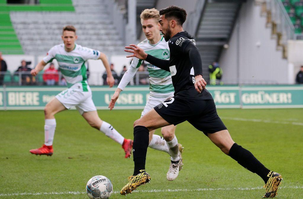 Beim 0:2 in Fürth wurde Nicolas Gonzalez eingewechselt – reicht es nun für die Startelf im Spiel des VfB Stuttgart gegen Arminia Bielefeld? Foto: Baumann
