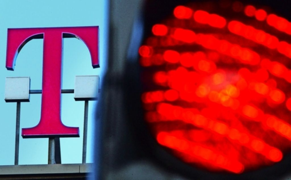 Streitobjekt T-Aktie: Nun richten sich die Augen von 17000   Telekom-Aktionären  auf das  Oberlandesgericht  Frankfurt. Es muss entscheiden, ob  der Bonner Konzern  den Eignern   wegen   eines fehlerhaften Prospekts Schadenersatz leisten muss. Foto: dpa