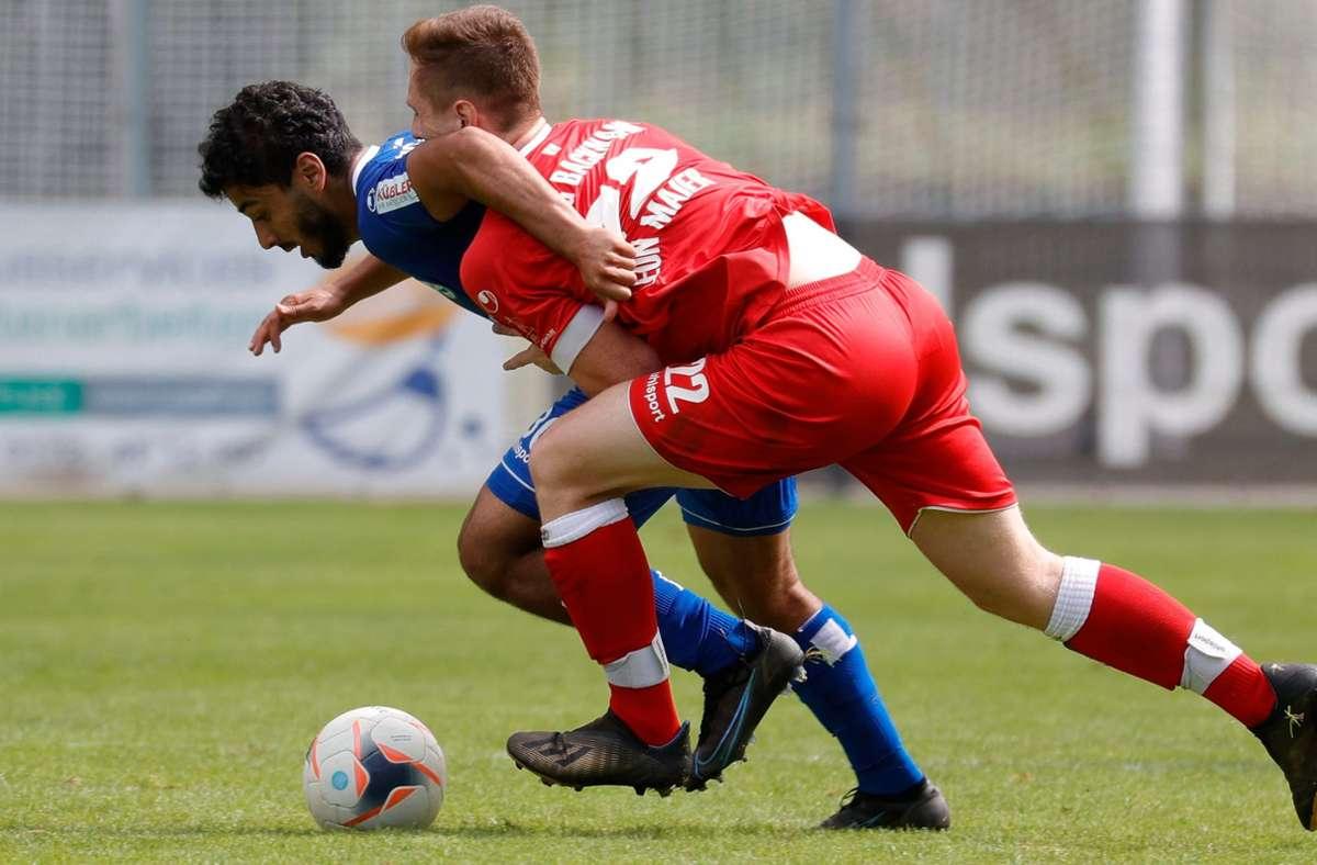 Mohamed Baroudi erzielt gegen Backnang einen Doppelpack. Foto: Pressefoto Baumann/Volker Müller