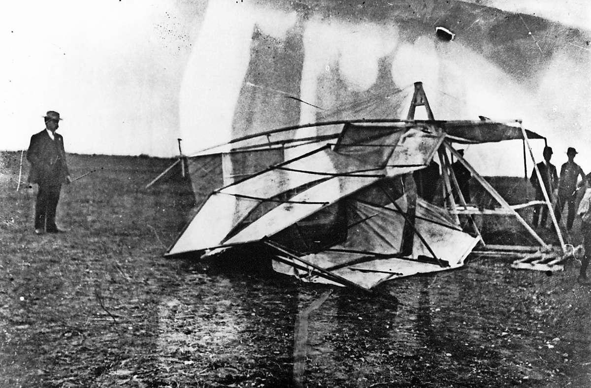 Jacob Brodbecks Flugversuche endeten stets früher als geplant. Foto: privat