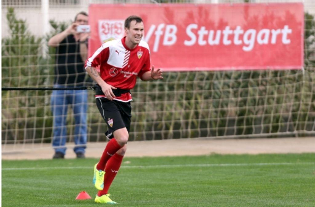Kevin Großkreutz macht sich im Trainingslager in Belek für den VfB Stuttgart fit. Foto: Pressefoto Baumann