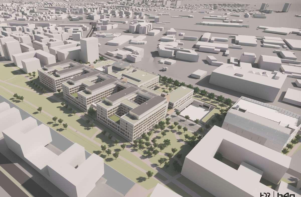 Die geplante Klinik im Modell. Foto: Klinikverbund Südwest