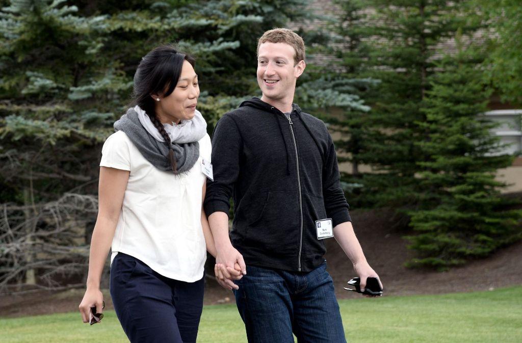 Facebook-Chef Mark Zuckerberg und seine Frau Priscilla Chan spenden an die Elite-Uni Harvard einen Millionenbetrag.Foto:dpa Foto: