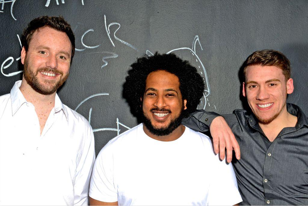 Jakob Hofmann, Walta Hagos und Dominik Pfundstein (v. links) sind die Gründer von WaGo. Foto: Stefan Lutter