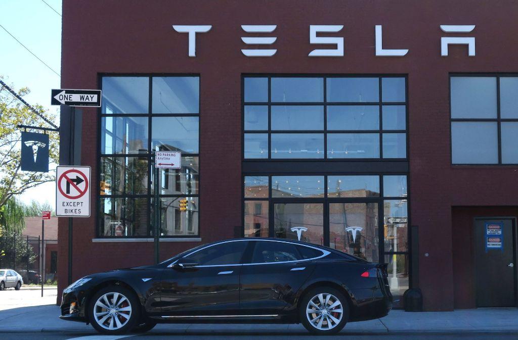 Tesla-Showroom in New York. Foto: dpa