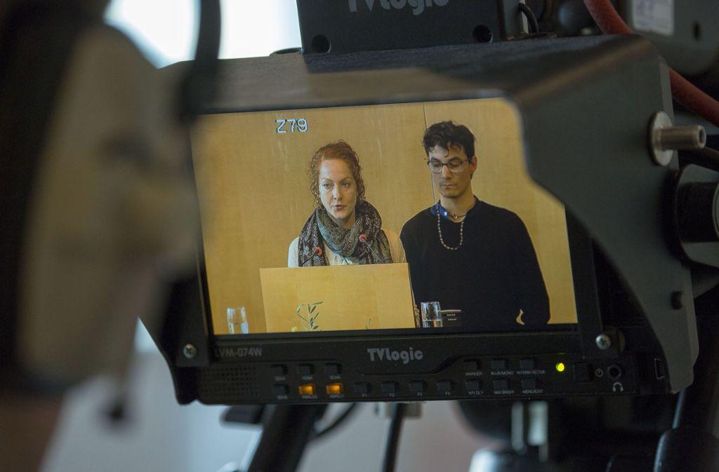 Die Generaldebatte zum Klimaschutz mit Yvonne Sauter und Paul Epple (v.l.) war die am häufigsten aufgerufene Übertragung. Foto: Lichtgut/Leif-H.Piechowski